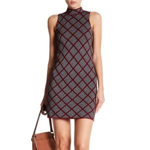 Romeo & Juliet Couture Geo Knit Cocktail Dress